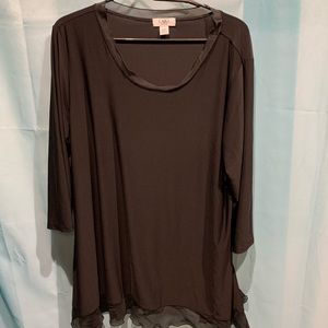 Cato Black Long Sleeve Blouse Size 18/20W